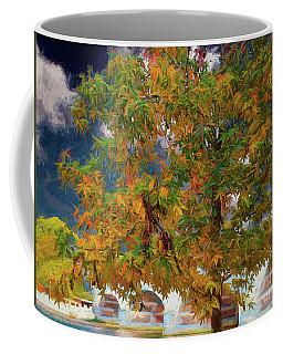 Coffee Mug featuring the digital art Tree By The Bridge by Leigh Kemp