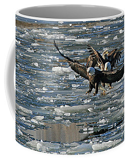 Tree Eagles On Ice Coffee Mug