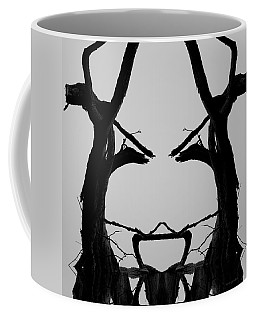 Coffee Mug featuring the photograph Tree Face I Bw Sq by David Gordon