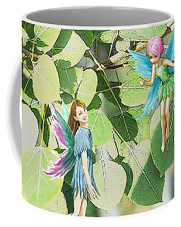 Tree Fairies Among The Quaking Aspen Leaves Coffee Mug