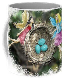 Tree Fairies At The Robin Nest Coffee Mug