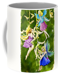 Tree Fairies On The Weeping Willow Coffee Mug
