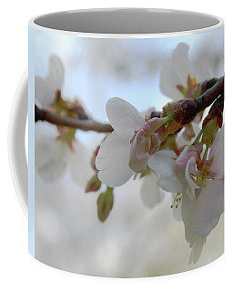 Coffee Mug featuring the photograph Dogwood Branch Pink by Melinda Blackman