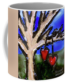 Tree Hearts Coffee Mug by Genevieve Esson