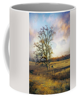 Coffee Mug featuring the photograph Tree In Meadow by John Rivera