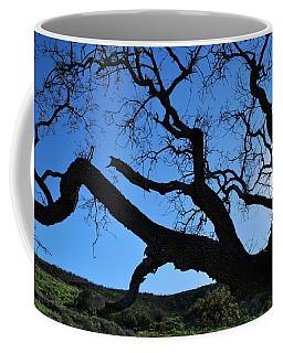 Tree In Rural Hills - Silhouette View Coffee Mug