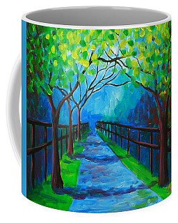 Tree Lined Fence Coffee Mug