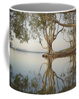 Coffee Mug featuring the photograph Tree Love Down By The Lake by Keiran Lusk