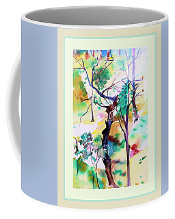 Coffee Mug featuring the painting Tree Lovers by Mindy Newman