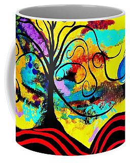 Tree Of Life Abstract Painting  Coffee Mug