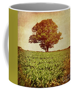 Coffee Mug featuring the photograph Tree On Edge Of Field by Lyn Randle