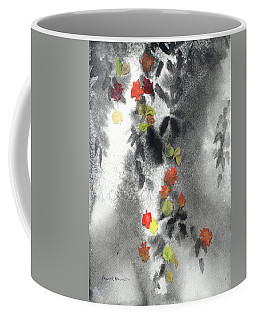 Tree Shadows And Fall Leaves Coffee Mug