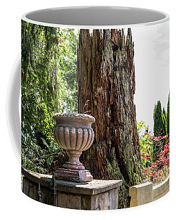 Tree Stump And Concrete Planter Coffee Mug