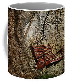 Tree Swing By The Lake Coffee Mug by Deborah Benoit
