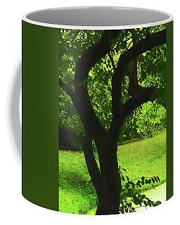 Tree Trunk Green Coffee Mug