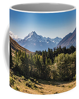 Coffee Mug featuring the photograph Tree View Of Mt Cook Aoraki by Gary Eason