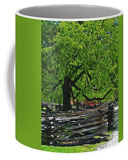 Tree With Colonial Fence Coffee Mug