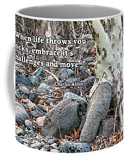 Tree With Quote Coffee Mug by Charles Ables