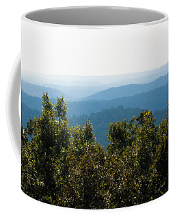 Coffee Mug featuring the photograph Trees And Rolling Hills by Parker Cunningham
