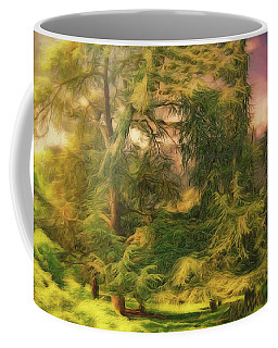 Coffee Mug featuring the photograph Trees And Sky by Leigh Kemp