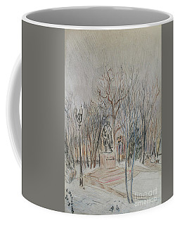 Trees And Winter Skies Coffee Mug