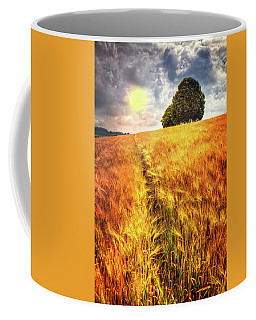 Coffee Mug featuring the photograph Trees At The Top by Debra and Dave Vanderlaan