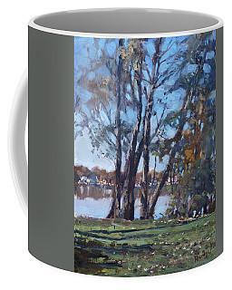 Trees By The River Coffee Mug