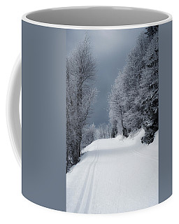 Trees Hills And Snow Coffee Mug