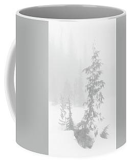 Trees In Fog Monochrome Coffee Mug