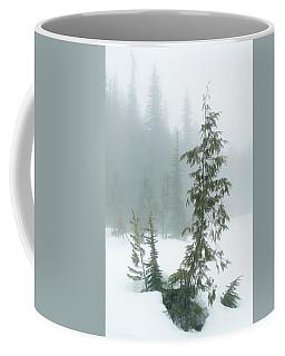 Trees In Fog Coffee Mug