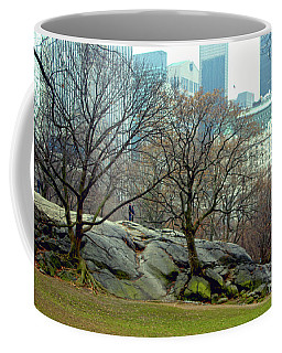 Coffee Mug featuring the photograph Trees In Rock by Sandy Moulder