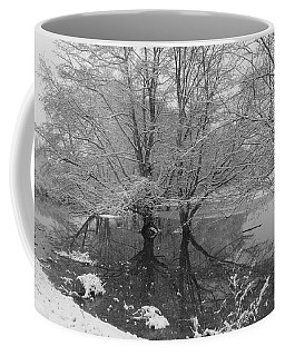 Coffee Mug featuring the photograph Trees In Snow by Karen Molenaar Terrell