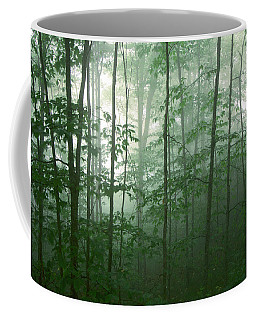Coffee Mug featuring the photograph Trees In The Mist by Joye Ardyn Durham