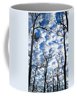 Coffee Mug featuring the photograph Trees In The Sky by Shari Jardina