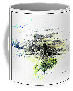 Trees On The Hill Coffee Mug by Lenore Senior
