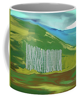 Trees On The Mountain Coffee Mug by Lenore Senior