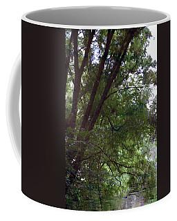 Trees Reflected In A Woodland Stream 2867 H_2 Coffee Mug