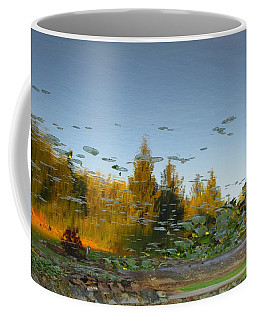 Trees Reflected In Lily Pads Coffee Mug