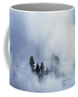 Trees Through Firehole River Mist Coffee Mug by Kae Cheatham