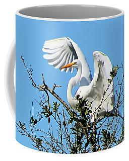 Treetop Egret Coffee Mug
