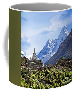 Coffee Mug featuring the photograph Trekking The Himalayas by Scott Kemper