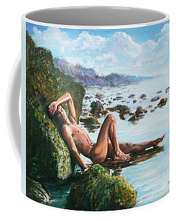 Trevor On The Beach Coffee Mug