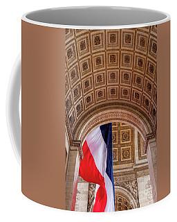 Tri-color At Arc De Triomphe Coffee Mug