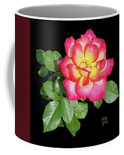 Tri-color Pink Rose2 Cutout Coffee Mug by Shirley Heyn