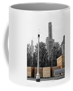 Coffee Mug featuring the photograph Tri Towers by Dylan Punke