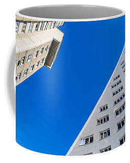 Triangle Modern Building Coffee Mug by John Williams