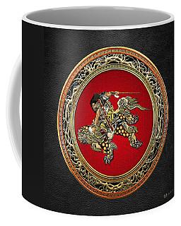 Tribute To Hokusai - Shoki Riding Lion  Coffee Mug