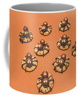 Trick Or Treat Halloween Spider Biscuits Coffee Mug