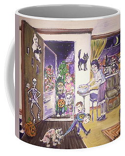 Trick Or Treat On Exeter Street Coffee Mug