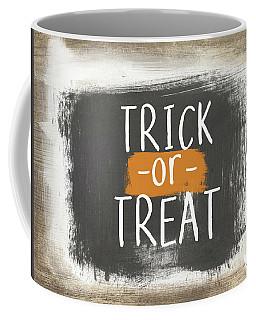 Trick Or Treat Sign- Art By Linda Woods Coffee Mug